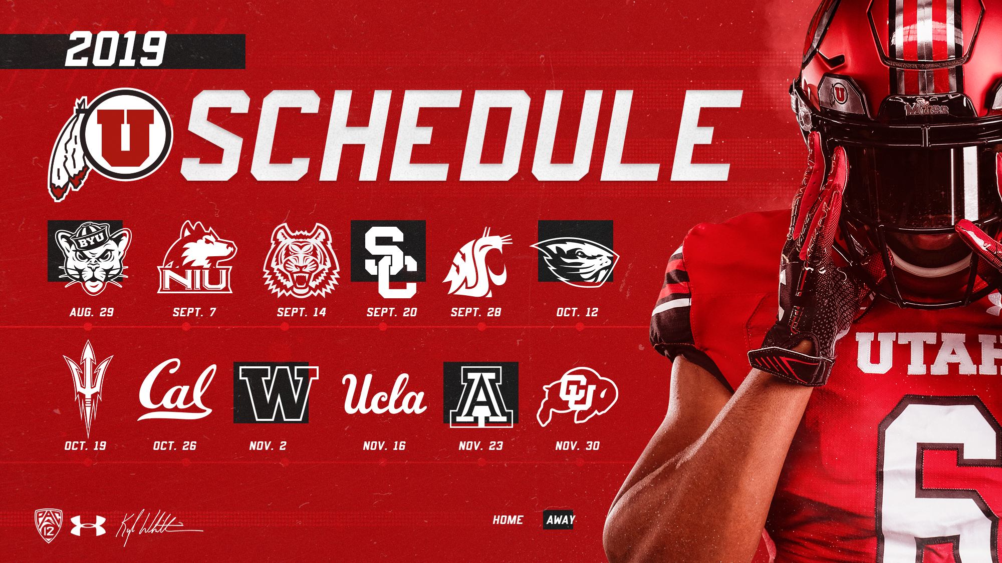 Wsu Football Schedule 2019 2019 Utah Football Schedule is Announced   University of Utah