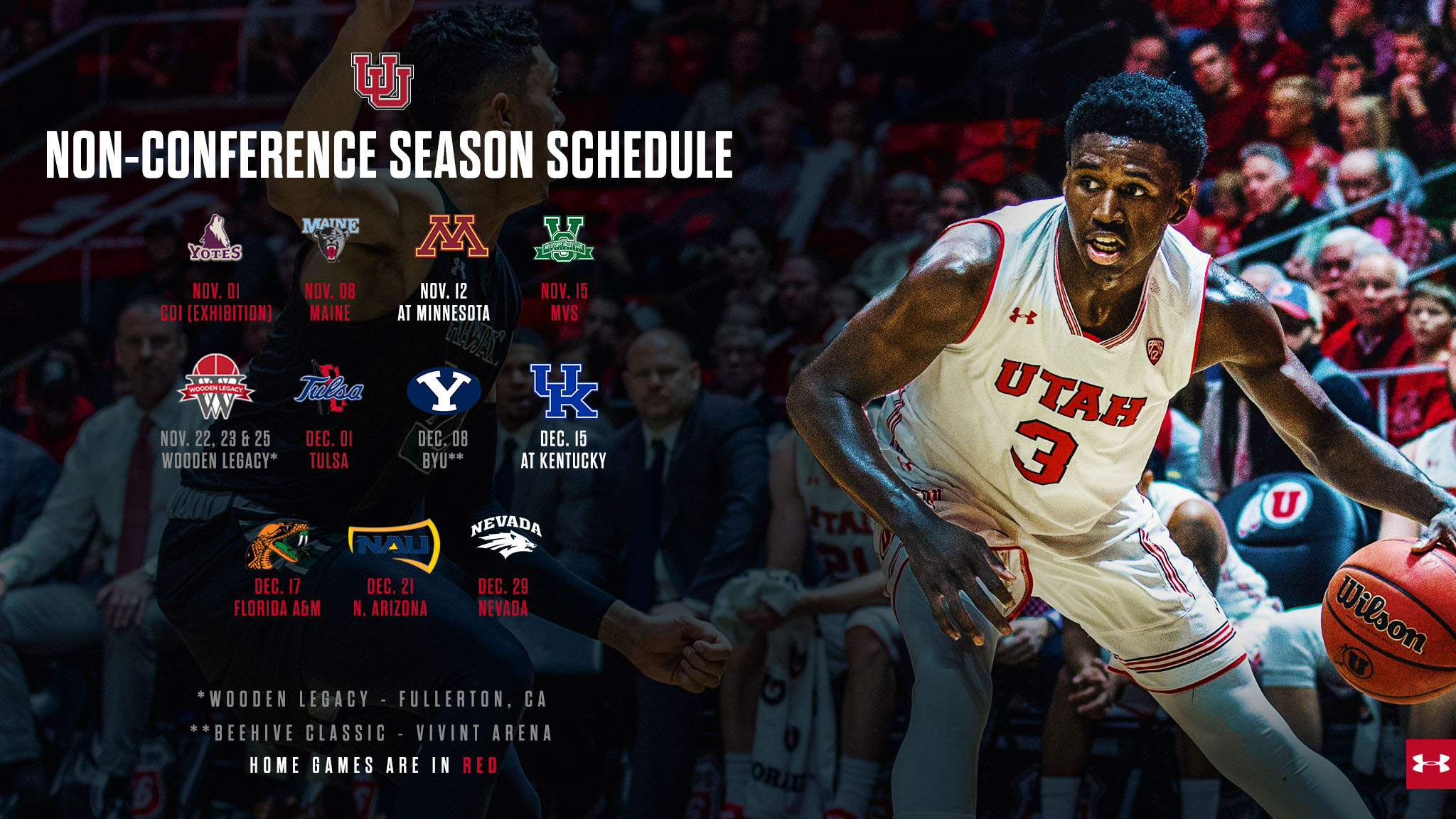 Runnin Utes Announce 2018 19 Non Conference Schedule