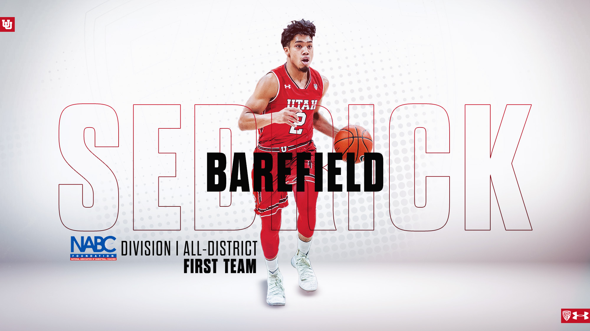 d30586203 Barefield Named to NABC All-District Team - University of Utah Athletics